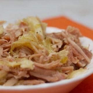 4-Ingredient Hawaiian Slow Cooker Kalua Pork & Cabbage Recipe
