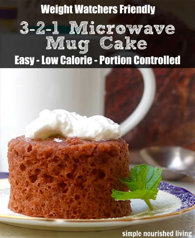 Low Calorie 2 Ingredient Microwave Mug Cake Simple Nourished Living
