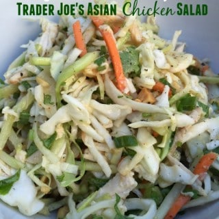 close up of Trader Joes Asian Chicken Salad