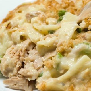 Classic Campbell's Tuna Noodle Casserole Made Weight Watchers Friendly