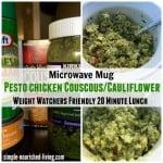 Pesto Chicken Cauliflower Couscous Weight Watchers 20 Minute Lunch Meal in a Mug