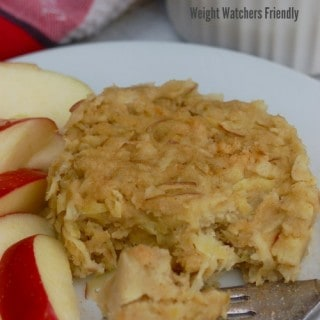 Weight Watchers 20 Minute Lunch: 4 Ingredient Microwave Mug Apple Pancake Puff