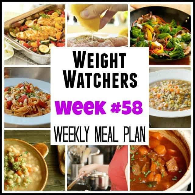 Weight Watchers Weekly Meal Plan Week 58