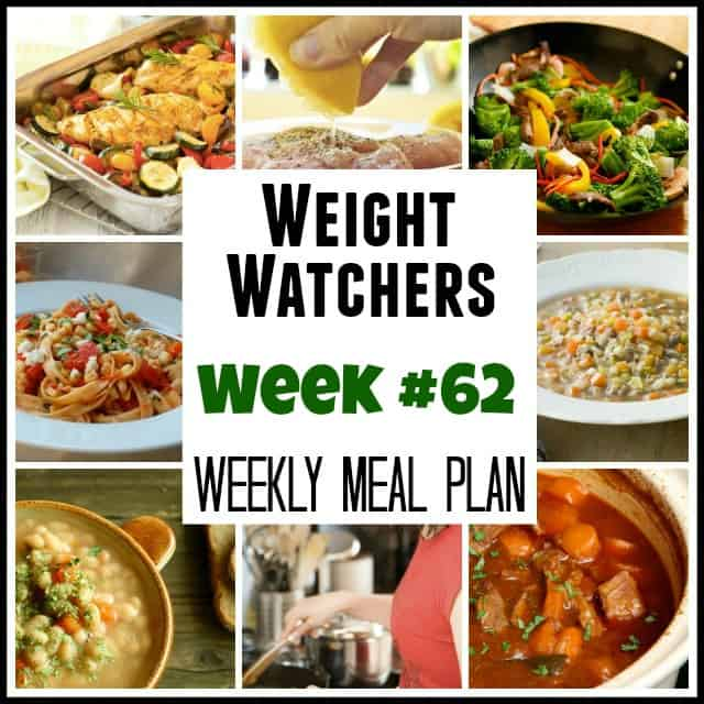 Weight Watchers Weekly Meal Plan 62 SmartPoints