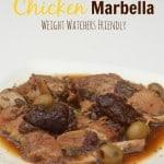 Weight Watchers Friendly Slow Cooker Chicken Marbella