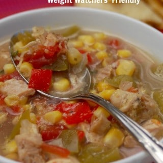Skinny Slow Cooker Southwest Chicken Soup – 0 SmartPoints