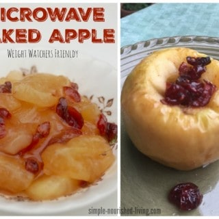 Weight Watchers Microwave Baked Apple with Cranberries and Maple Syrup – 2SP