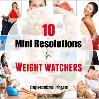 10 mini resolutions for weight watchers