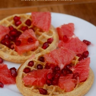 Weight Watchers Whole Grain Waffles with Orange and Pomegranate
