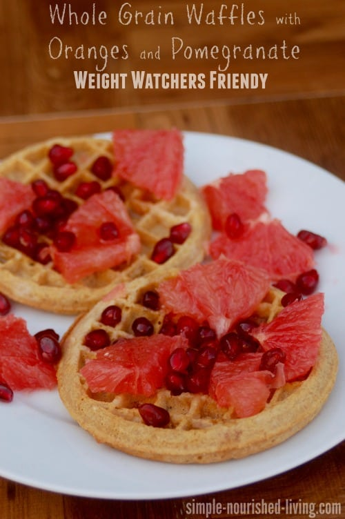 Whole Grain Waffles with Orange and Pomegranate - 7 SmartPoints