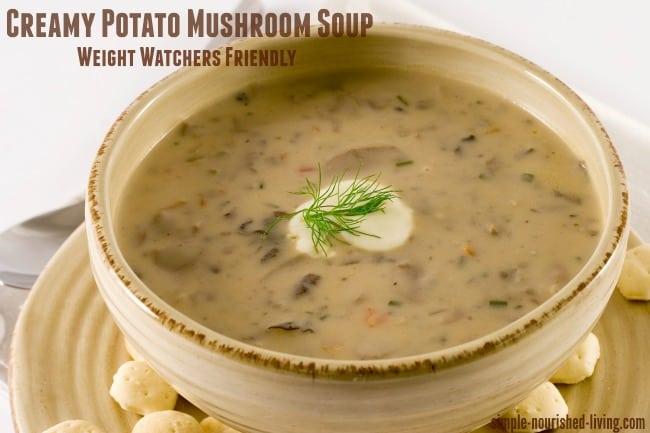 Weight Watchers Recipe Creamy Potato Mushroom Soup Smart Points