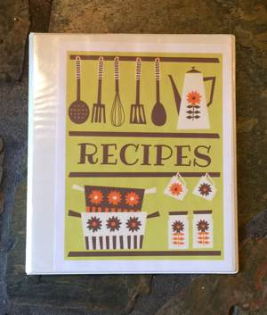 Personal Cookbook Cover Example