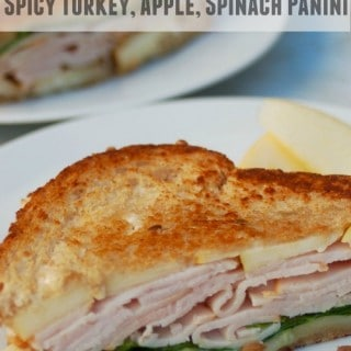 Spicy Turkey, Apple and Spinach Panini – 6 SmartPoints