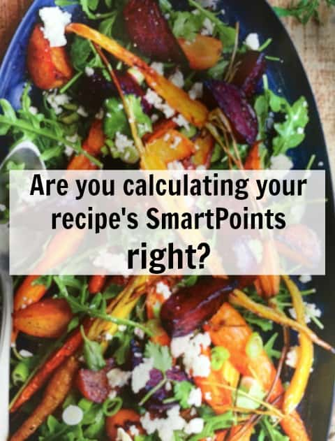 Are you Calculating Your Recipe;s SmartPoints Right?