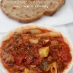 Crock Pot Tomato Ground Beef Pasta Soup
