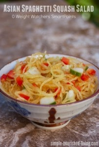Easy Healthy Asian Spaghetti Squash Salad Recipe 0 Weight Watchers SmartPoints