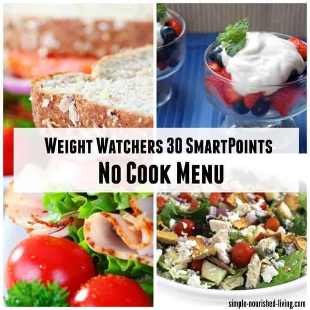 Weight Watches SmartPoints No Cook Menu
