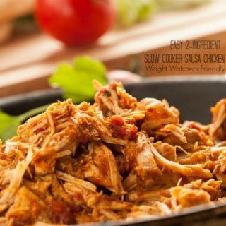 Easy Healthy 2-Ingredient Slow Cooker Salsa Chicken: 0-2 Freestyle SmartPoints