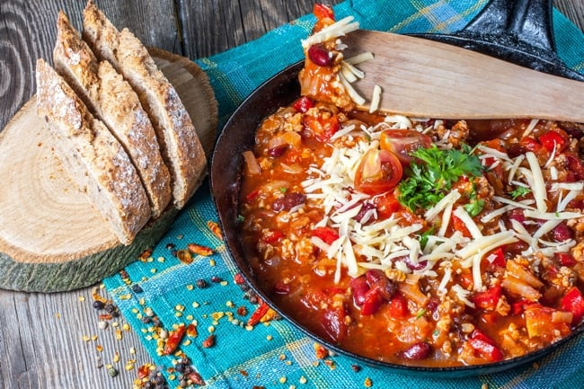 Skinny Pepperoni Pizza Chili for Weight Watchers