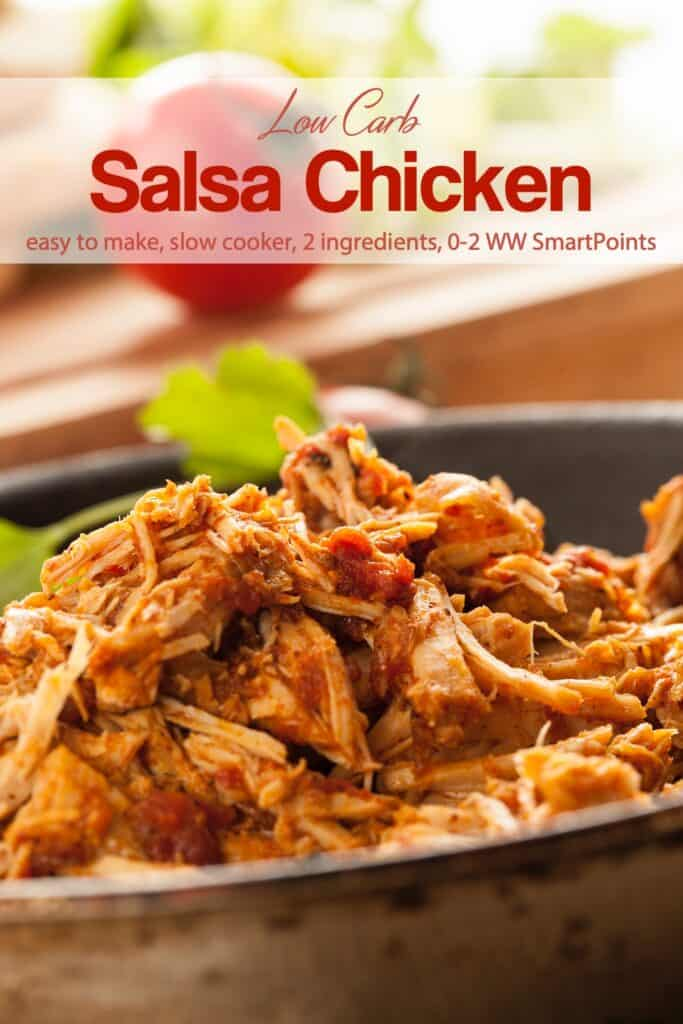 Pan with Shredded Salsa Chicken