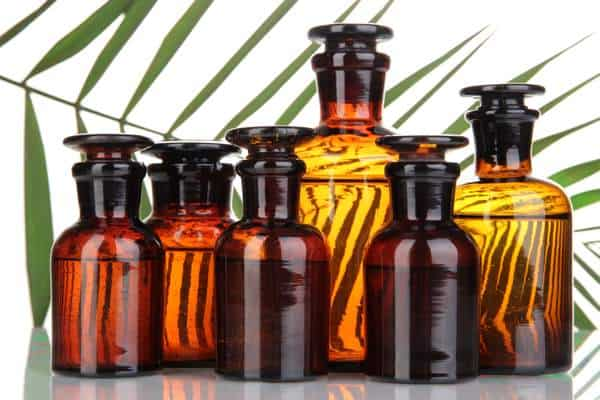 A Variety of Bottles of Essential Oils