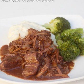 Slow Cooker Balsamic Braised Beef – 4 SmartPoints