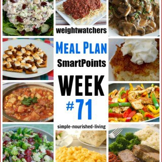 Weight Watchers Weekly Meal Plan #71 {SmartPoints}