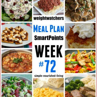 Weight Watchers Weekly Meal Plan #72 {SmartPoints}
