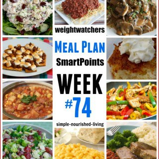 Weight Watchers Weekly Meal Plan 74 with SmartPoints