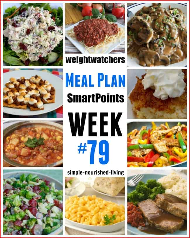 Weight Watchers Weekly Meal Plan 79