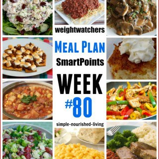 Weight Watchers Weekly Meal Plan 80
