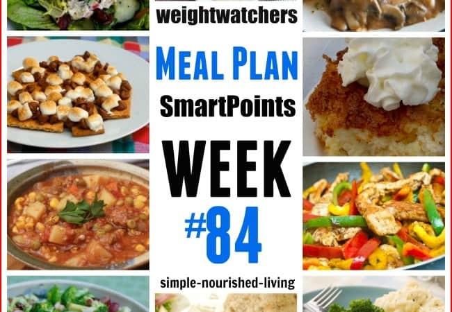 Weight Watchers Weekly Dinner Meal Plan 84 SmartPoints