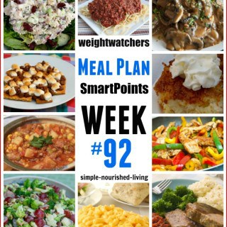 Weight Watchers Friendly Dinner Menu #92 with Freestyle SmartPoints