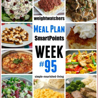 Weight Watchers Weekly Dinner Meal Plan 95 Freestyle SmartPoints