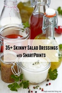 Weight Watchers Skinny Salad Dressings with SmartPoints