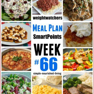 Weight Watchers Weekly Meal Plan #66 {SmartPoints}