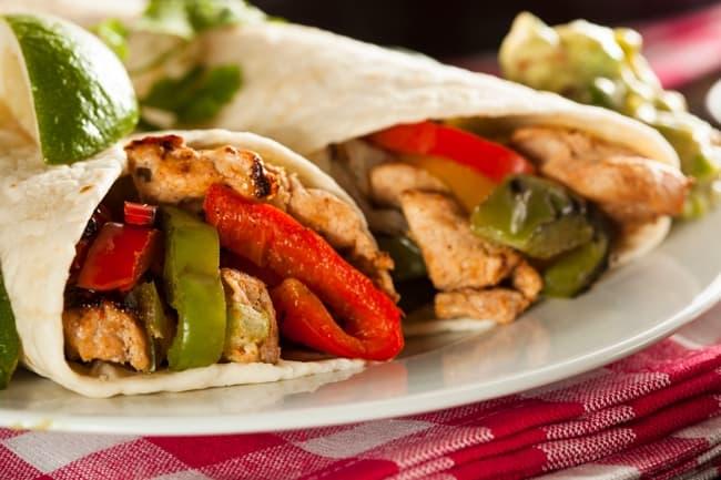 Easy Healthy Chicken Fajitas for Weight Watchers