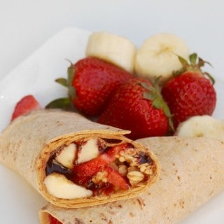 Skinny Peanut Butter Banana Strawberry Wrap – 8 SmartPoints