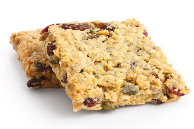 Ellies Healthy Energy Bars Granola Weight Watchers 5 SmartPoints close up white background