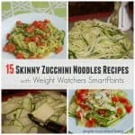 skinny zucchini noodles recipes weight watchers smart points plus