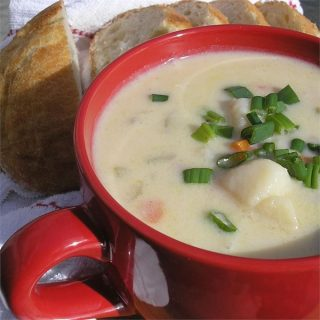 AllRecipes Ham and Potato Soup Made Lighter healthier Weight Watchers Friendly