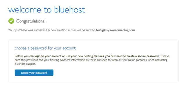 Bluehost Website Hosting step07
