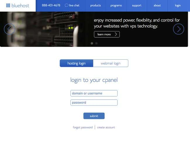 Bluehost Website Hosting step09