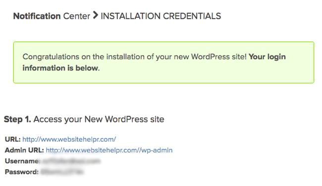 Bluehost WordPress Install step 07
