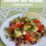 Skinny Cooking for 2 Cauliflower Rice and Beans - 8 Weight Watchers SmartPoints