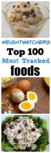 ww 100 most tracked foods vertical pin images and text