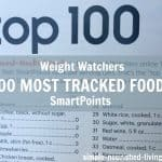 Weight Watchers Top 100 Most Tracked Foods with SmartPoints Values