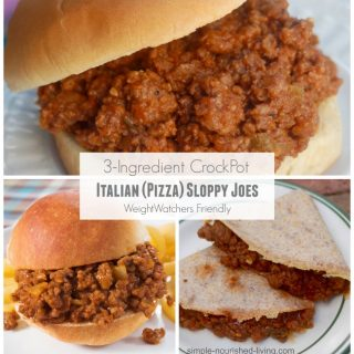 Weight Watchers Friendly 3 Ingredient CrockPot Italian Pizza Sloppy Joe's