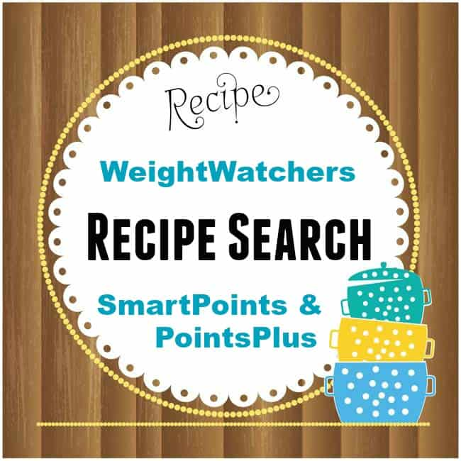 Weight Watchers SmartPoints & Points Plus Recipe Search