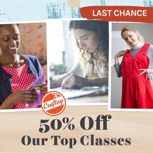 50% Off Popular Craftsy Classes For A Limited Time